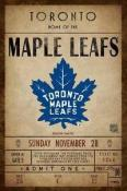Toronto Maple Leafs Ticket Canvas