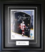 "Steve Yzerman ""The Last Step"" Framed Autographed 8×10 Photo"