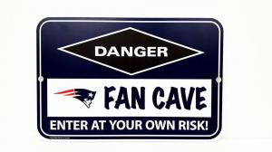 New England Patriots  Fan Cave Sign