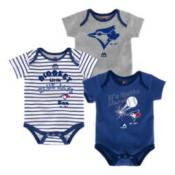 Toronto Blue Jays Infant Homerun Creeper Set 3-Pack by Majestic