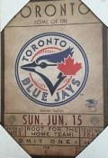 Toronto Blue Jays Ticket Canvas