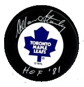 Allan Stanley Autographed Puck