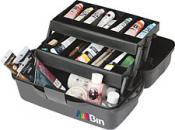 Art Bin Matte Black Essentials 2 Tray Storage Box