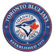 Toronto Blue Jays Round Wood Sign