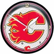 Calgary Flames 12 Inch Round Clock