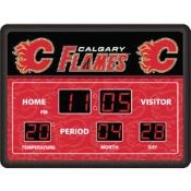 Calgary Flames Digital Scoreboard Clock