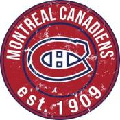 Montreal Canadiens 24″ Round Wood Sign