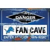 Detroit Lions Fan Cave Sign