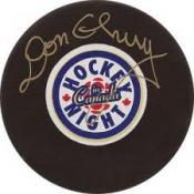Don Cherry Autographed Puck