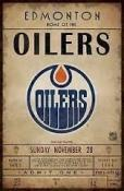 Edmonton Oilers Ticket Canvas