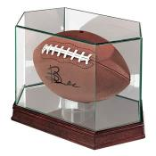 Football Display Case with Glass Top