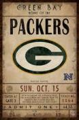 Green Bay Packers Ticket Canvas