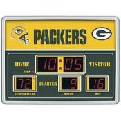 Green Bay Packers Digital Scoreboard Clock