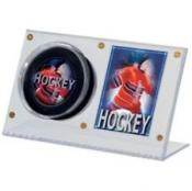 Ultra Pro Hockey Puck and Card Display Case