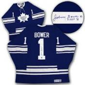 Johnny Bower Autographed Jersey