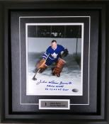 Johnny Bower Framed Autographed 8×10 Photo