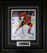 Jonathan Toews Framed Autographed 8×10