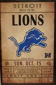 Detroit Lions Ticket Canvas