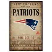 New England Patriots Ticket Canvas