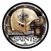 New Orleans Saints 12 Inch Round Clock
