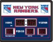 New York Rangers Digital Scoreboard Clock