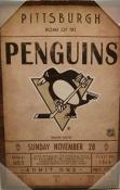 Pittsburgh Penguins Ticket Canvas