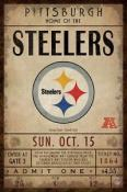 Pittsburgh Steelers Ticket Canvas