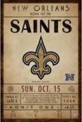 New Orleans Saints Ticket Canvas