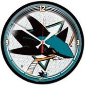 San Jose Sharks 12 Inch Round Clock