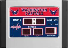 Washington Capitals Scoreboard LED Alarm Clock