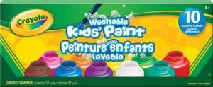 Crayola Washable Paint 10 Pack Assorted Colours