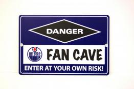 Edmonton Oilers Fan Cave Sign