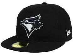 Toronto Blue Jays MLB Black and White Fashion 59FIFTY Cap