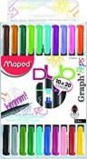 Maped Assorted Colours Felt Tip Fine-liner Pens