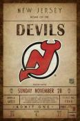 New Jersey Devils Ticket Canvas