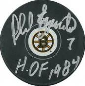 Phil Esposito Autographed Puck