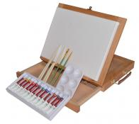 Table Easel and Acrylic Colour Painting Set