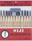 Yasutomo Wood Carving Set 12 Piece Set
